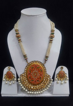 Hand Painted Necklace Set