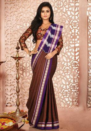 Ilkal Kasuti Cotton Silk Saree in Maroon
