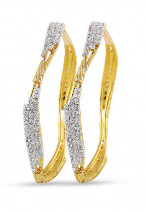 Stone Studded Bangles Pair