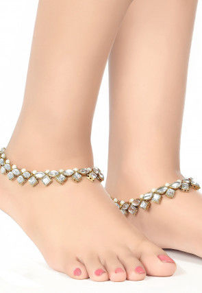 Kundan Pair of Anklets