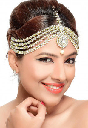 Stone Studded Layered Matha Patti