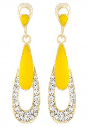 Stone Studded Earring in Yellow