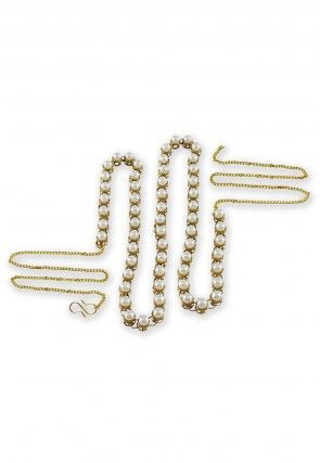 Pearls Waist Chain in White