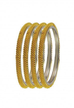 Golden Metallic Bangles