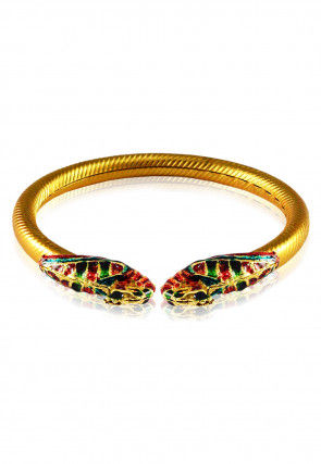 Golden Meenakari Adjustable Bangle