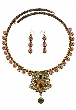 Kundan Adjustable Hasli Choker Necklace Set