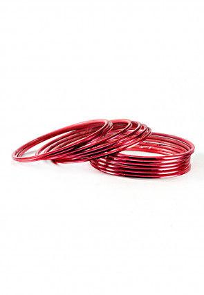 Red Metallic Bangles