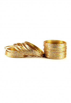 Metallic Bangle Set in Golden