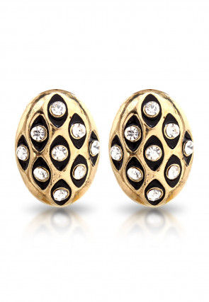 Stone Studded Earring in Black