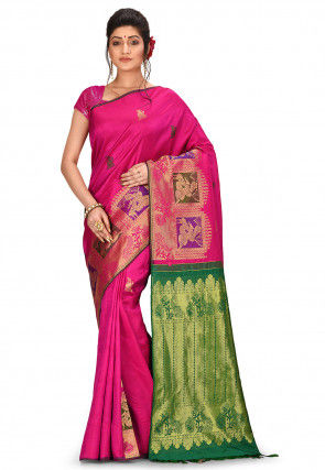 Kanchipuram Pure Kanchipuram Silk Saree in Pink