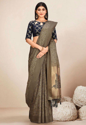 Kanchipuram Saree in Beige