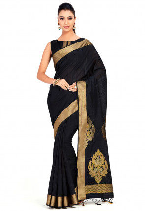 b7bf7e81f27fee Black Saree: Buy Black Color Designer Sarees Online | Utsav Fashion