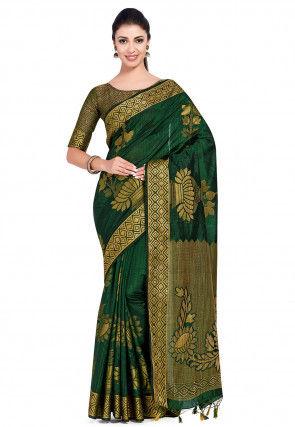 Kanchipuram Saree in Green