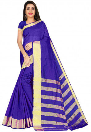 Kanchipuram Saree in Indigo Blue