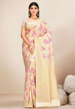 Kanchipuram Saree in Light Golden