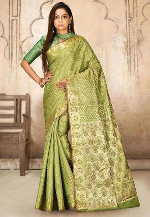 Kanchipuram Saree in Light Green