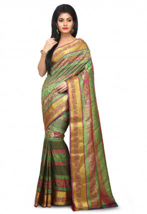 Kanchipuram Saree in Multicolor