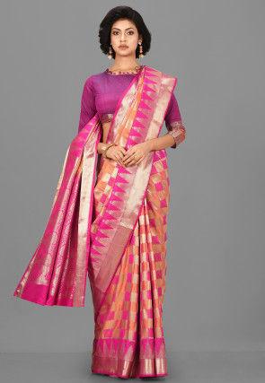 Kanchipuram Saree in Multicolour