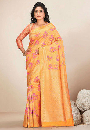 Kanchipuram Saree in Mustard