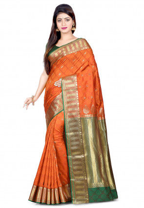 Kanchipuram Saree in Orange