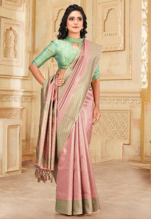 Kanchipuram Saree in Pink