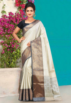 Kanchipuram Saree in Silver