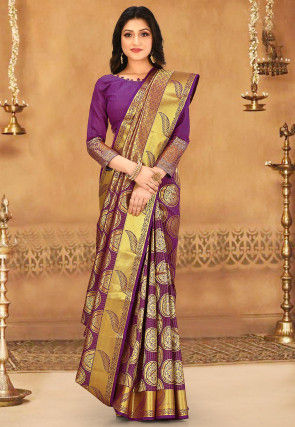 Kanchipuram Saree in Violet