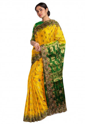 Kanchipuram Saree in Yellow