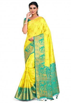 Kanchipuram Saree in Yellow