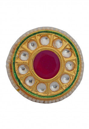 Kundan Adjustable Ring