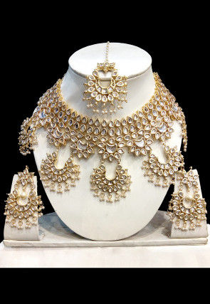 Bridal jewellery shop indian wedding jewelry for brides online kundan choker necklace set junglespirit Image collections