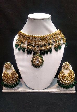 Kundan Choker Necklace Set