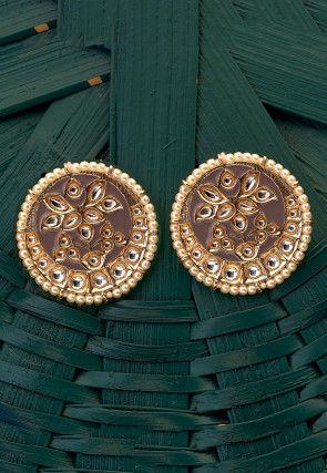 Kundan Enamel Filled Earrings