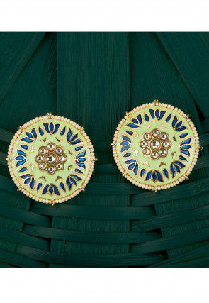 Kundan Enamel Filled Studs Earring