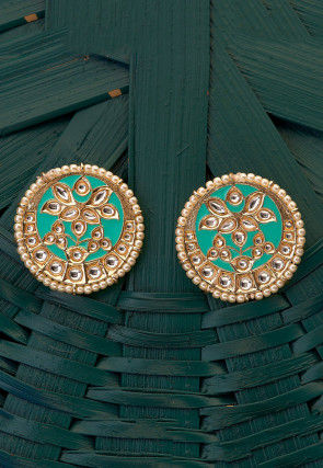 Kundan Enamelled Earrings
