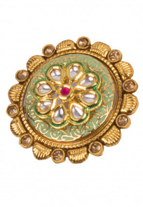 Kundan Enamelled Adjustable Ring