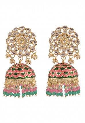 Kundan Jhumka Style Earrings