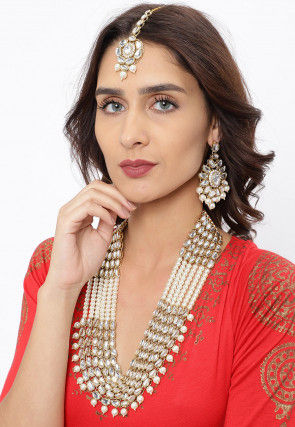 Kundan Layered Long Necklace Set