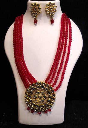 Kundan Long Layered Necklace Set
