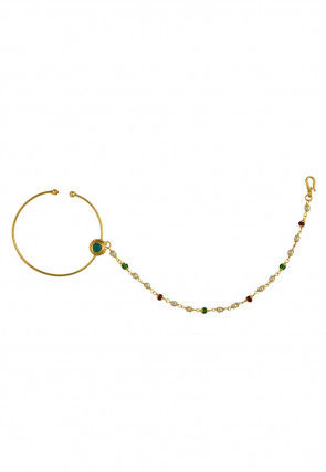 Kundan Nose Ring with Chain