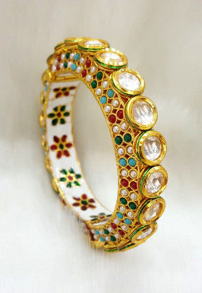 Kundan Openable Bangle