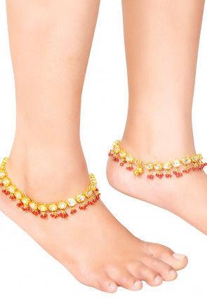Kundan Pair of Anklets