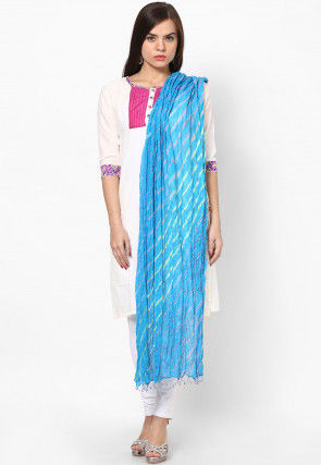 Leheriya Chiffon Dupatta in Blue