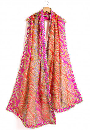 Leheriya Kota Silk Dupatta in Multicolor