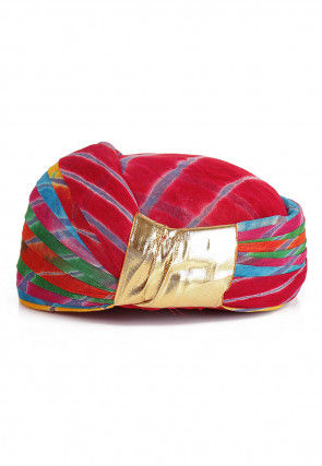 Leheriya Printed Cotton Turban in Multicolor
