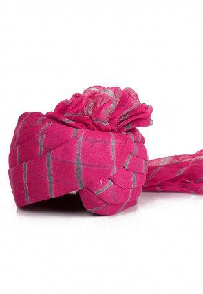 Leheriya Printed Cotton Turban in Pink