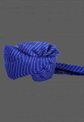 Leheriya Printed Kota Doria Kids Turban in Royal Blue