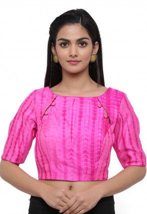 Leheriya Pure Silk Blouse in Pink