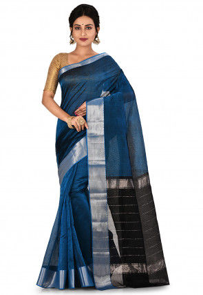 Mangalgiri Handloom Pure Silk Saree in Blue