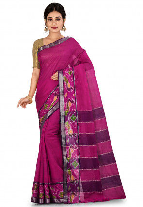 Mangalgiri Handloom Pure Silk Saree in Fuchsia